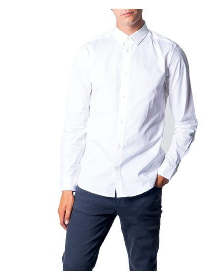 White Classic Collar Button Shirt