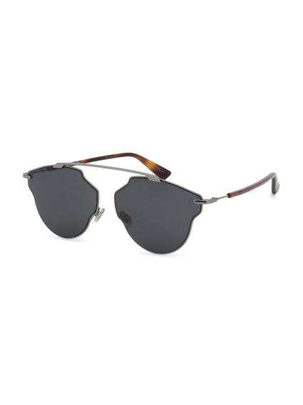 Grey Lens Metal Bridge Sunglasses