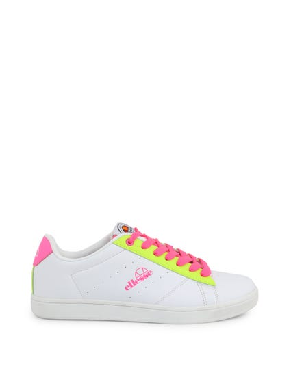 Yellow green and Lace Pink Sneakers