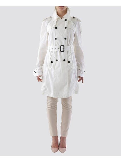 White Belted Pea Coat