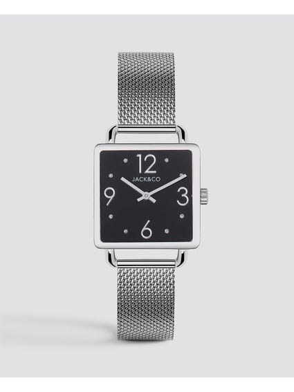 Black Dial Rectangular Watch