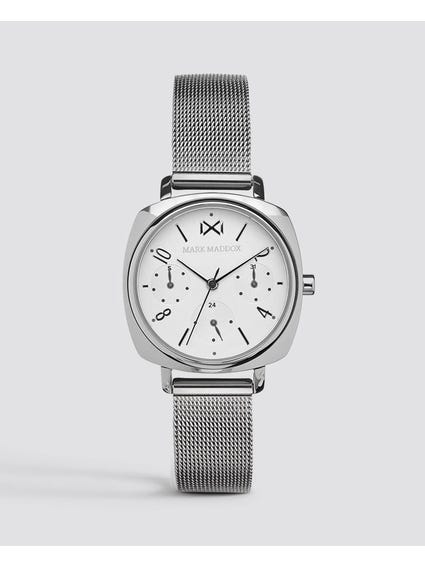Silver Quartz Mesh Watch