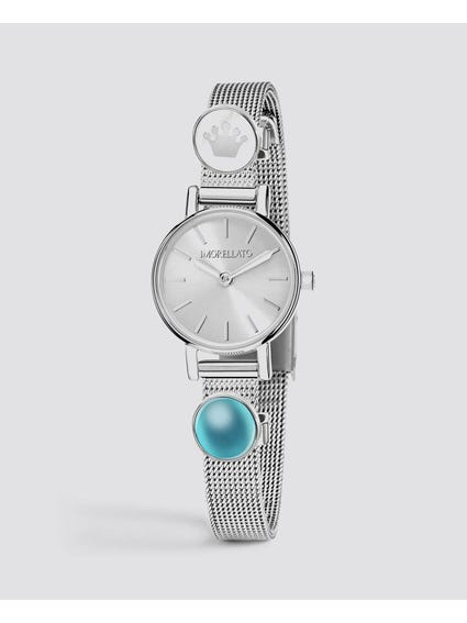 White Dial Equipped Analog Watch