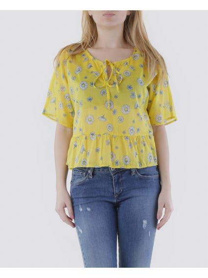 Crew Printed Lace Top