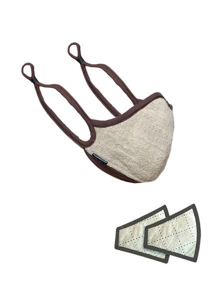 Beige Elastic Removable Pad Face Mask