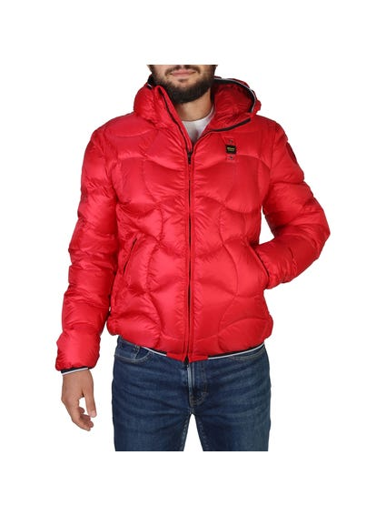 Red Quilted Hooded Jacket