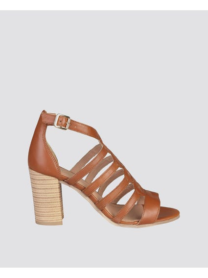 Isabelle Cuoio Strap Sandals