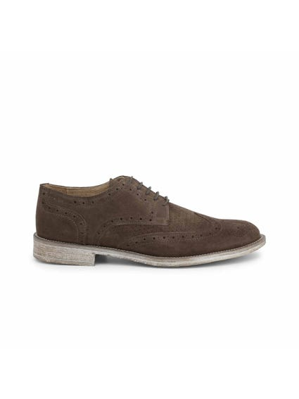Brown Suede Brogue Lace Up Shoes