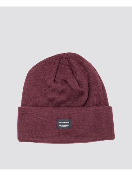 Bordeaux Winter Logo Beanie