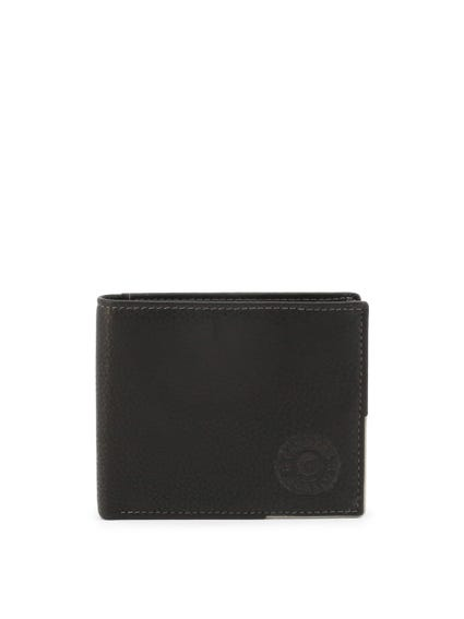 Black Nairobi leather Bi Fold Wallet