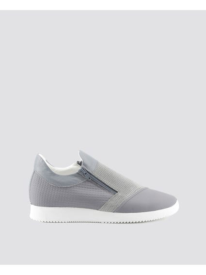 Grey Giulio Cleated Sole Slip Ons