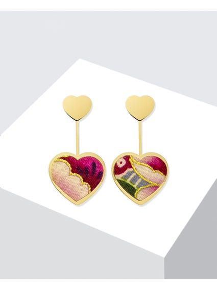 Gold Rosa Kokoro Mini Earrings