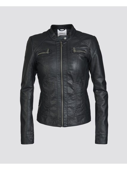 Black Zip Pockets Jacket