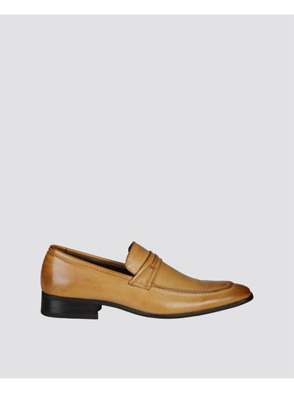 Brown Crossover Vamp Slip Ons