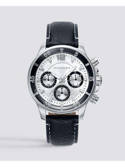 Runaway Silver Dial Leather Watch