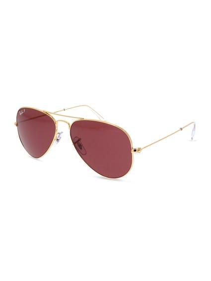 Yellow Classic Aviator Sunglasses