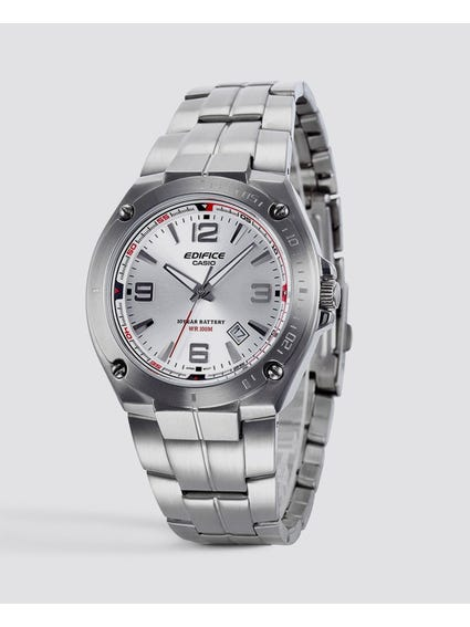Stainless Steel Silver Dial Quartz Watch