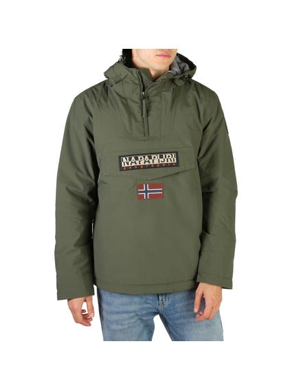 Green Rainforest Hood Pocket Jacket