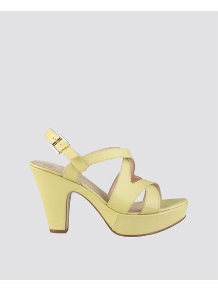 Yellow Marcelle Genuine Leather Sandals