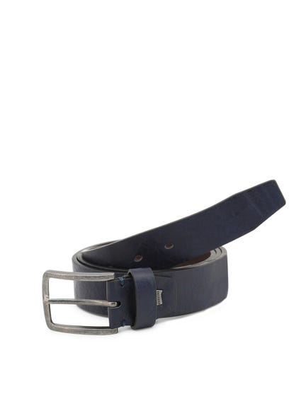 Blue Leather Buckle Pin Belt