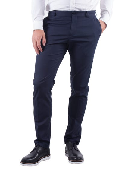 Blue Plain Formal Trouser