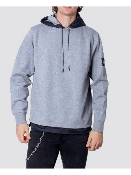 Grey Hooded Long Sleeve Sweatshirt