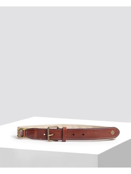 Brown Stiches Details Belt