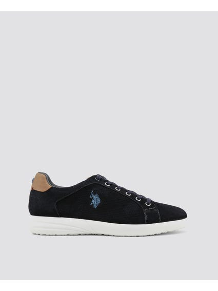 Navy Falks Two Tone Sneakers