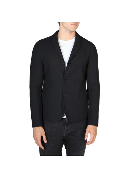 Black Tri Button Blazers