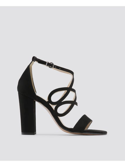 Black Carina Sandals