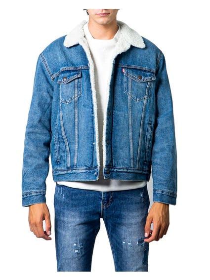 Denim Fur  Pocket Jacket