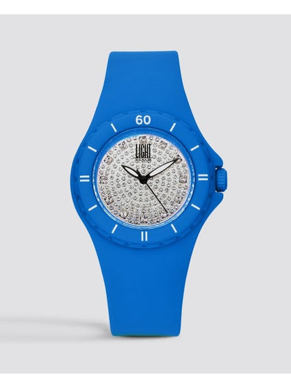 Blue Silicon Strap Quartz Watch