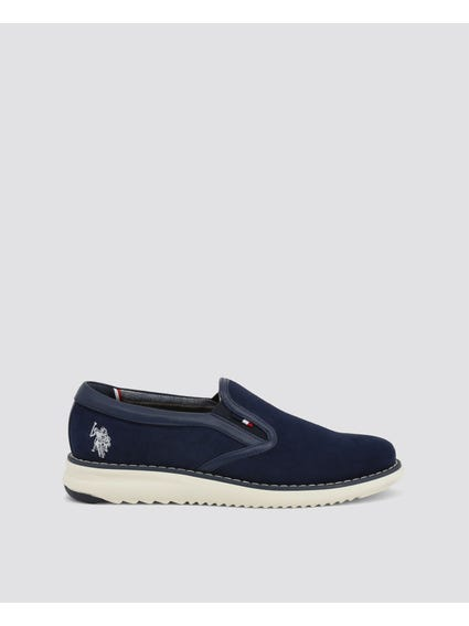 Blue Yagi Slip On Shoes