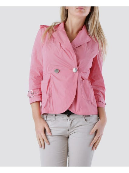 Pink Two Buttons Blazer
