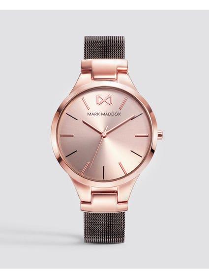 Rose Gold Quartz Stainless Steel Mesh Watch