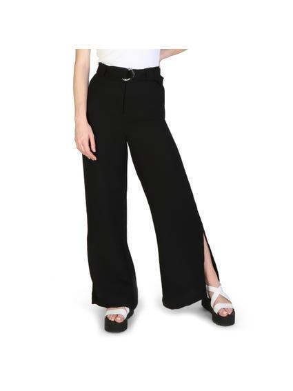 Button Zipper Side Slit Trouser