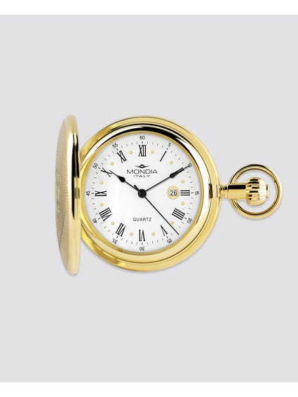 Gold Plated Quartz Pocket Watch