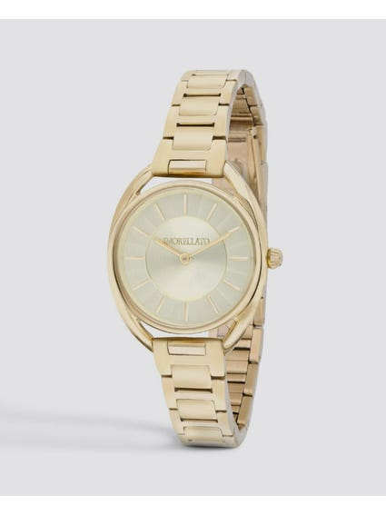 Gold Tone Quartz Analog Watch