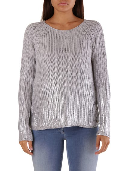Metallic Long Sleeve Knitwear