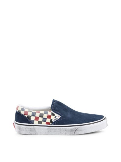 Blue Fabric Vamp Slip On