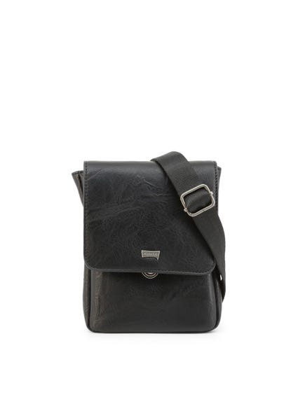 Black Tuscany Leather Zip Crossbody Bag