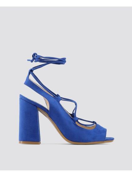 Blue Linda Sandals