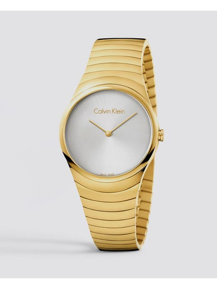 Silver Dial Gold Tone Watch