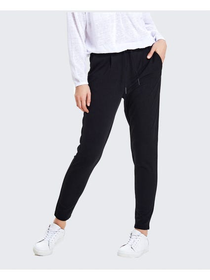 Black Drawstring Trouser