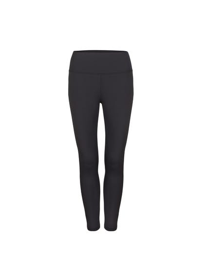 Grey Classic Elastic Plain Leggings