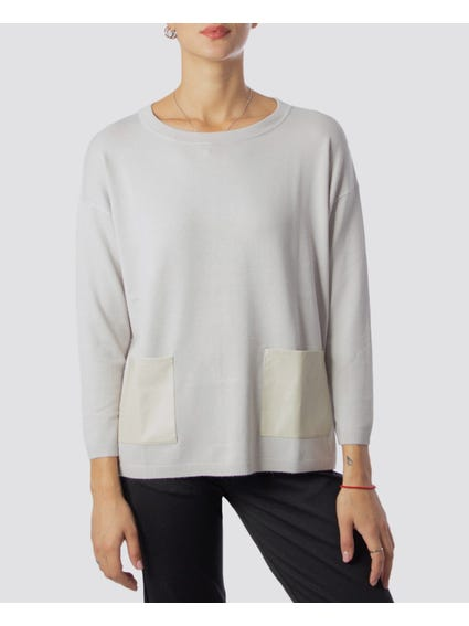 Round Neck Grey Sweatshirt