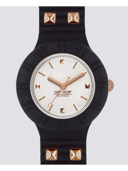 Black Punk Analog Watch