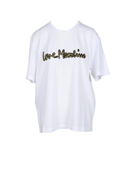Round Neck Print Love T-shirt