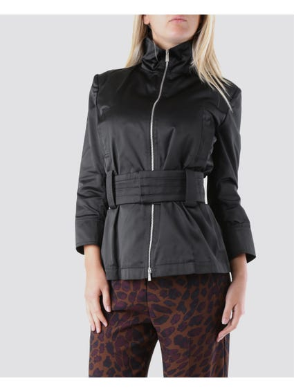 Black Wide Belted Jacket