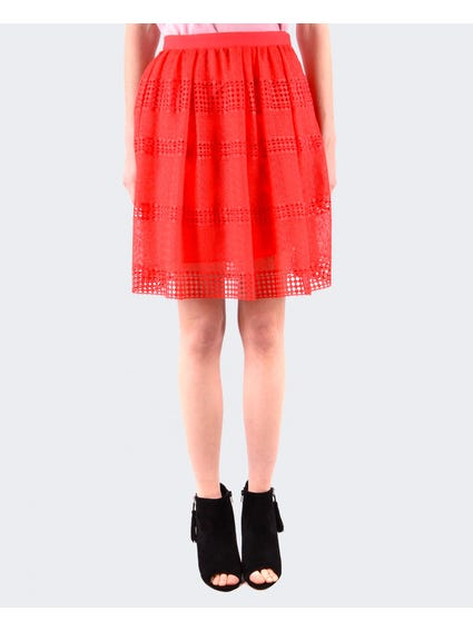 Coral Crochet Mid Skirts